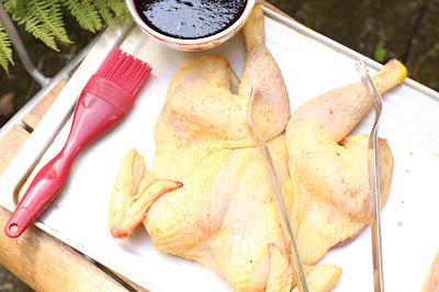 ouvrir poulet en deux pour griller