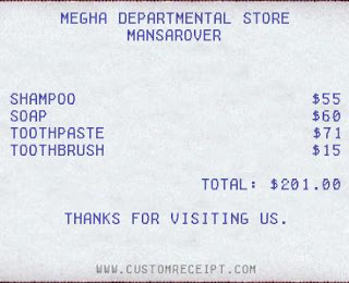 Custom Fake Receipt