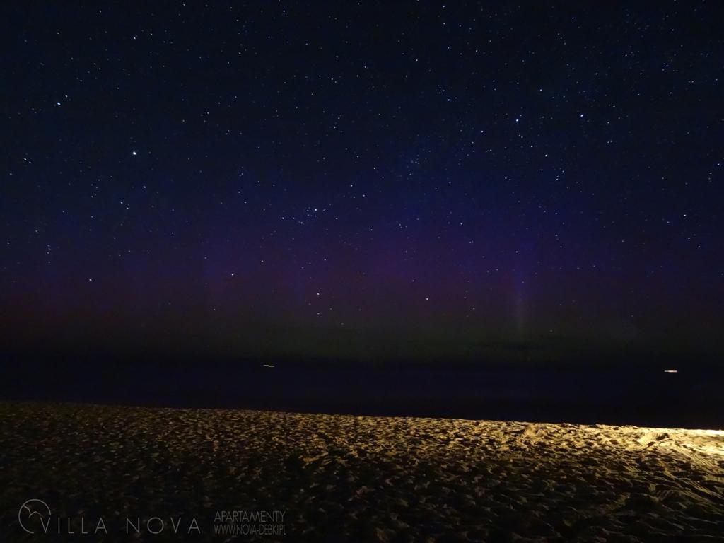 Zorza polarna sfotografowana w noc z 2 na 3 maja. Dębki, pomorskie. Autor: Piotr Okulski