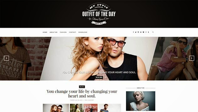 Outfit Clean responsive Blogger template