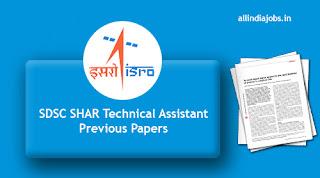 SDSC SHAR Technical Assistant Previous Papers
