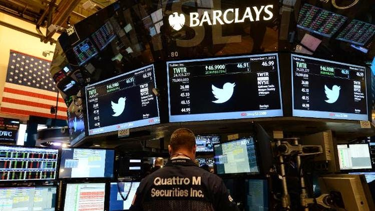 Wall Street, Twitter,  Wall Street Twitter, increased financial results, Twitter has not convinced the financial markets, social media, Twitter IPO,