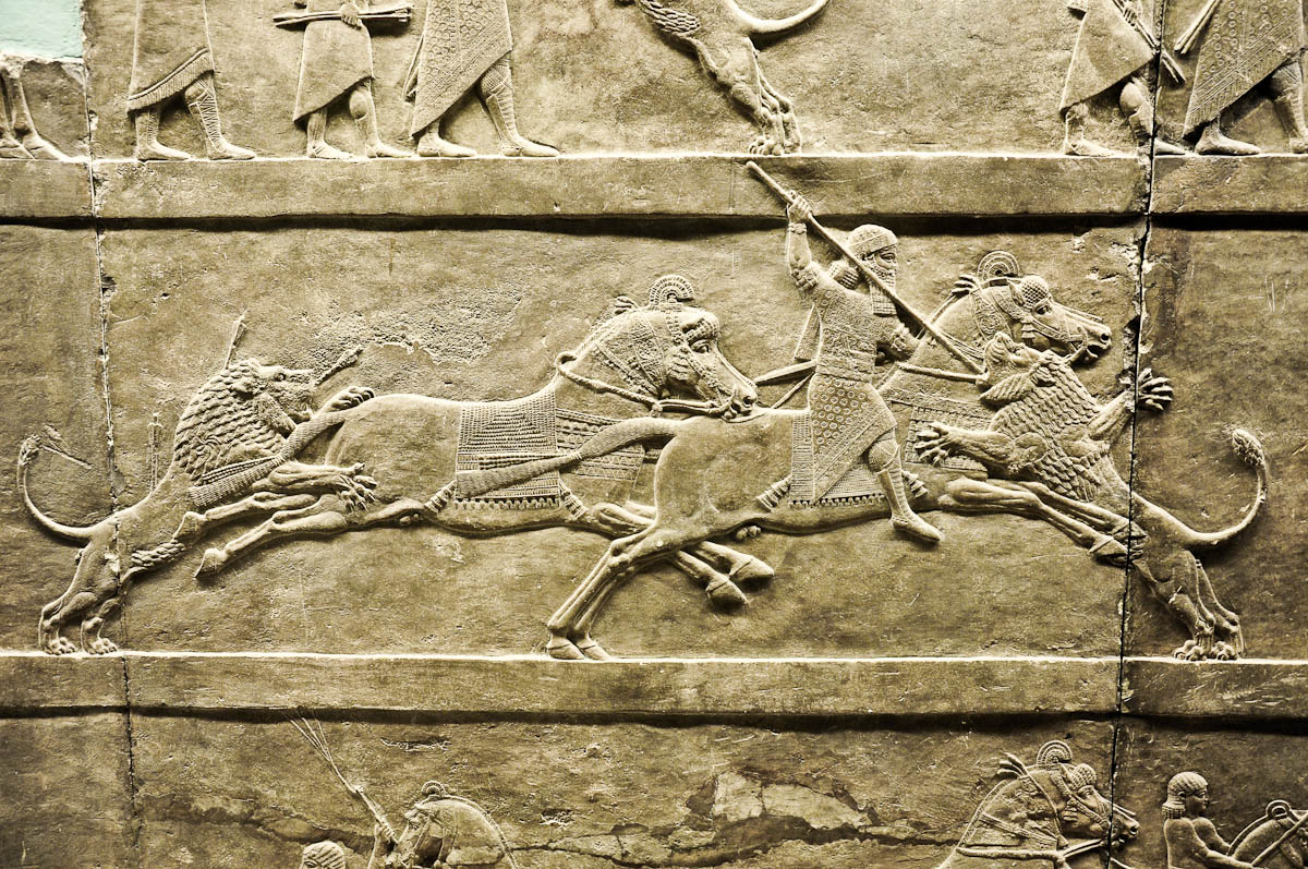The lion hunt, Assyria, The British Museum, London, UK