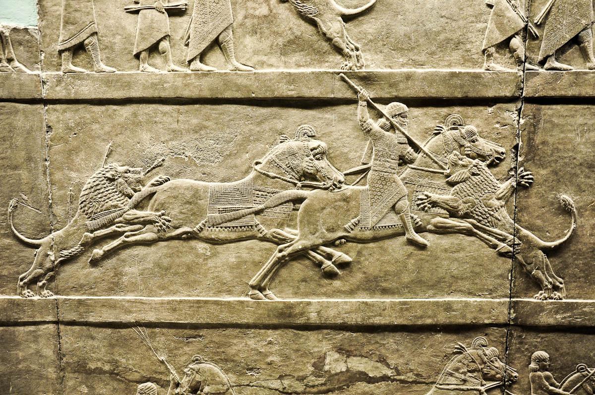 The lion hunt, Assyria, The British Museum, London, UK