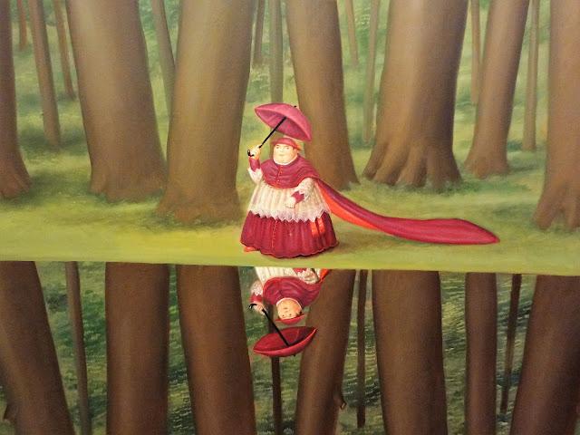 ボテロ作品「女装したおじさん」(ボテロ博物館)
