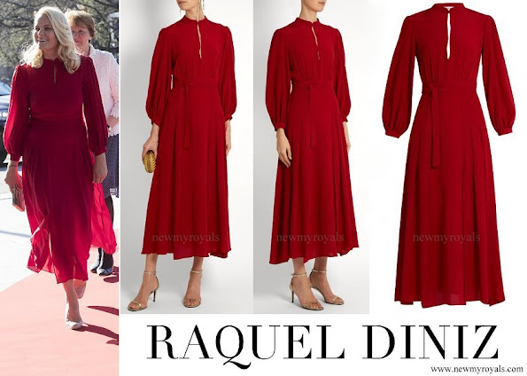 Crown Princess Mette Marit wore RAQUEL DINIZ Armonia Silk Georgette Dress