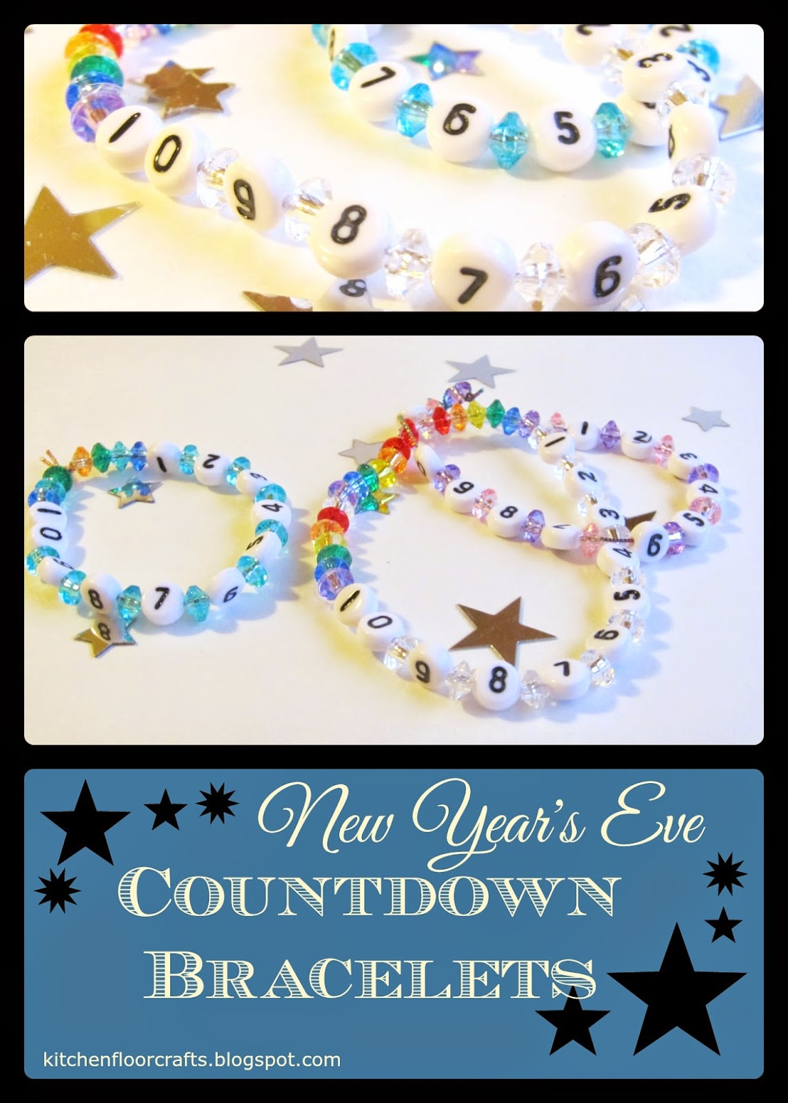 Kitchen Floor Crafts New Year S Eve Countdown Bracelets