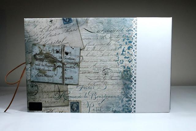 Contraportada de la carpeta del libro de firmas Ann Friks. Scrapbook