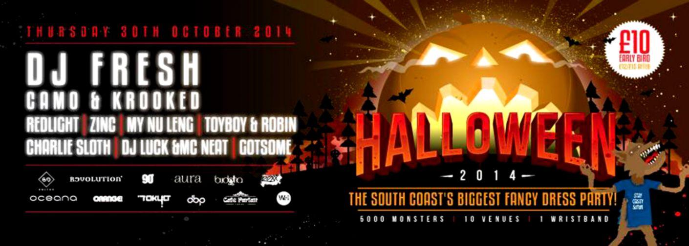 Southampton Halloween 2014 Oceana DJ Fresh DJ Zinc