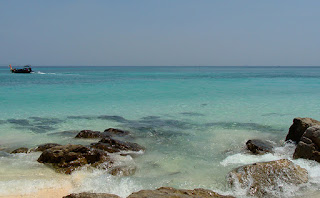 Photograph of seascape at Bamboo island ( Thailand ) , by Manju Panchal