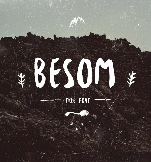 Brush font terbaik 2017 - Besom – Free Brush Font
