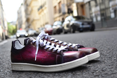 Paulus bolten patine bordeaux violet sur stan smith Adidas