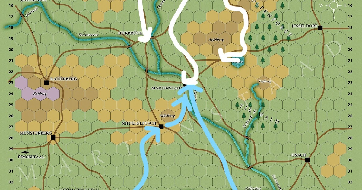 Map Of Kaiserberg France.Heretical Gaming Battlegames Campaign First Battle Of Martinstadt