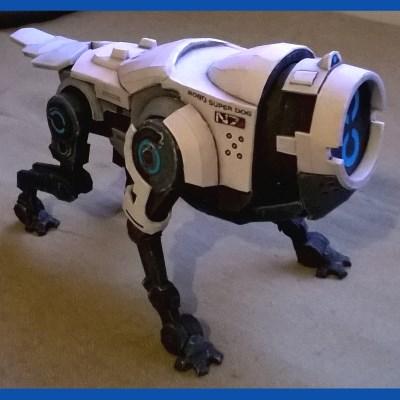 Mass Effect Kei-9 Robot Dog Paper Model