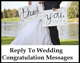 Reply to Wedding Congratulation Messages 1