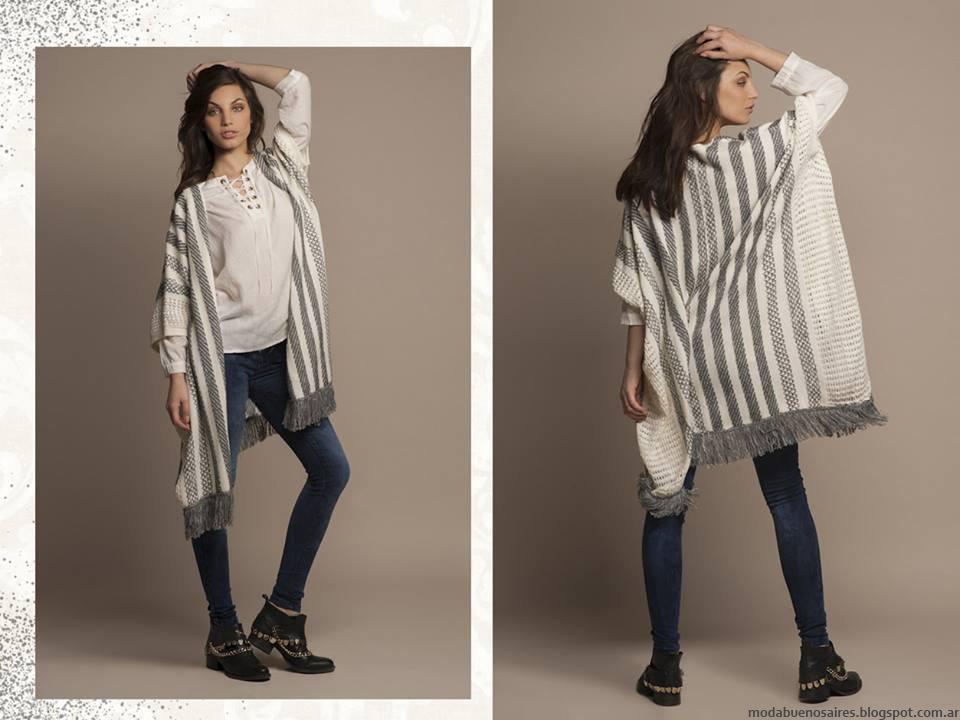 Ruanas invierno 2016 ropa de mujer otoño invierno 2016 Zhoue.