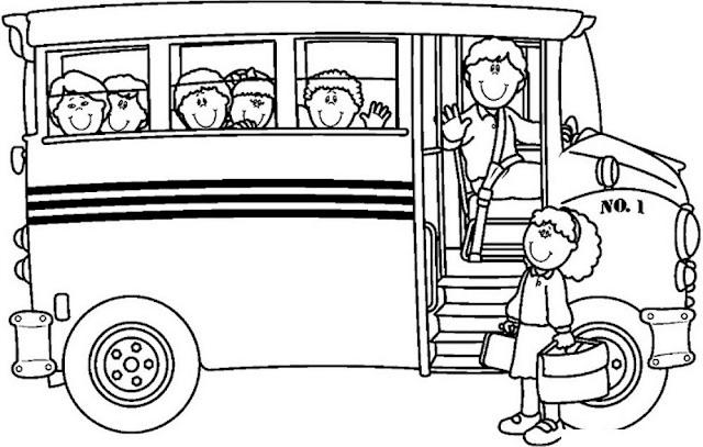Gambar Mewarnai Bus Sekolah - 5