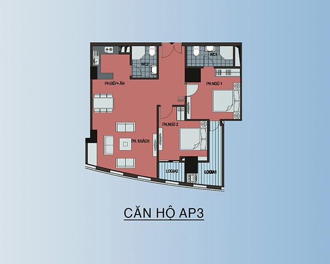 căn hộ AP3 - 91,8m2