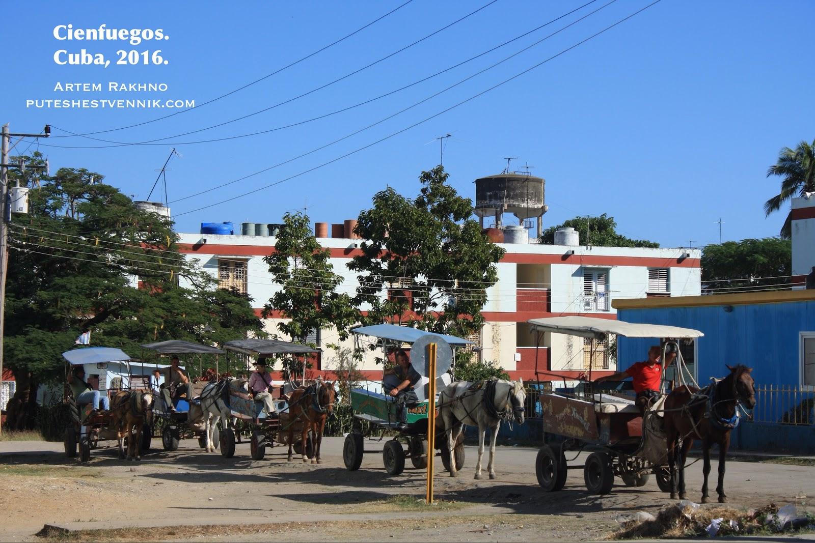 Лошадиные повозки на Кубе