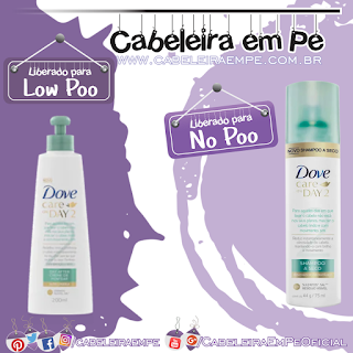 Shampoo a Seco (No Poo) e Creme para Petear (Low Poo) Day 2 - Dove
