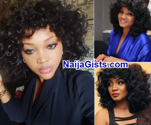mercy aigbe adopts omotola jalade wig style