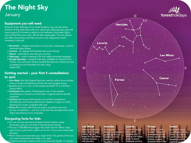 January Sky Stargazing Chart