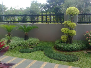 menata taman depan rumah