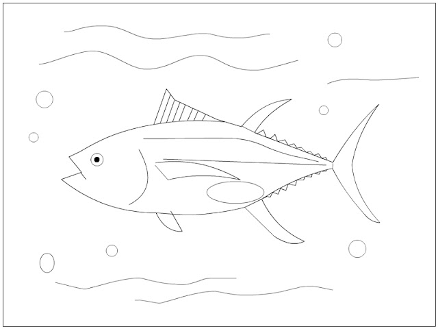 Yellowfin Tuna Coloring Page