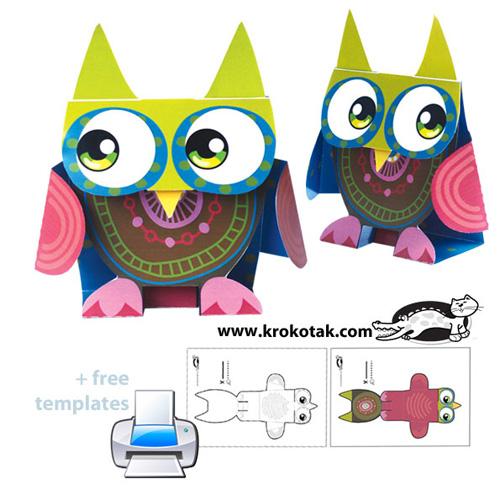 My Owl Barn Printable Paper Owl Toy