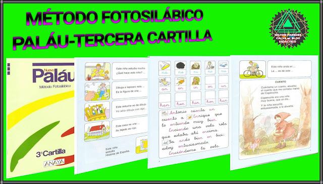 MÉTODO FOTOSILÁBICO PALÁU-TERCERA CARTILLA