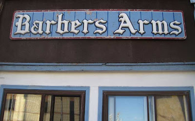Sign reading Barbers Arms