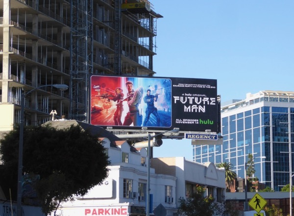 Future Man series launch billboard