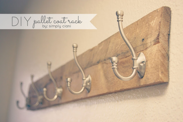 Read More From Diy Pallet Coat Rack At Simply Ciani