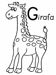 Gg For Giraffe Coloring Pages With Name