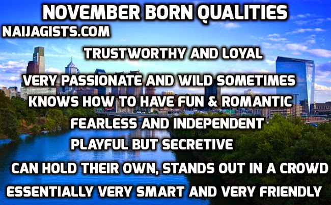 november born qualities