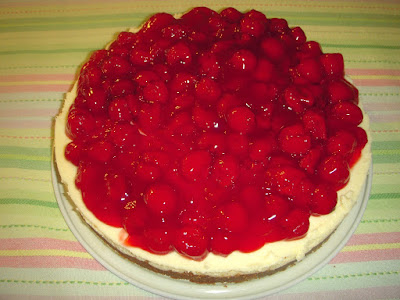 Margaret's Morsels | Sour Cream Cherry Cheesecake