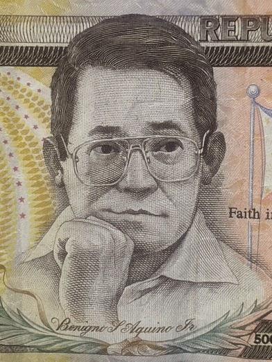 旧フィリピン500ペソ札のニノイ上院議員