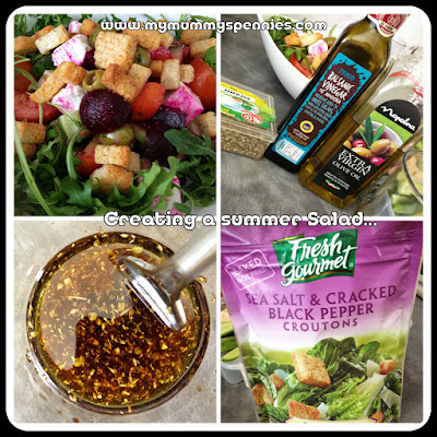 creating a summer salad and dressing recipe