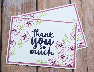 Make in a Moment Love and Affection Thank You Cards made using supplies from Stampin' Up! UK - buy Stampin' Up! UK here