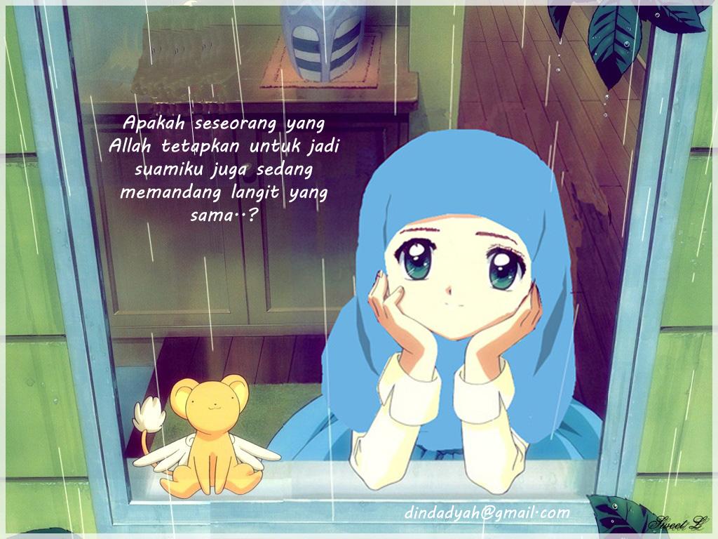 Gambar Kartun Muslimah Couple Top Gambar