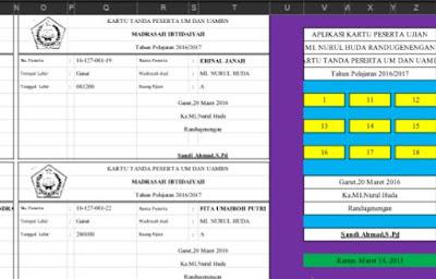 Aplikasi Pembuatan Kartu UAMBN Dan UM Format Baru