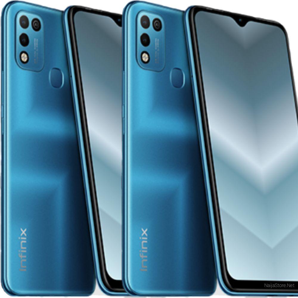 Infinix Hot 10 Play Smartphone - Specs: 6000mAh Battery, 6.82 HD-Plus Screen, 64GB/4GB Memory, Octa-Core, 4G, AI Cams, Face Unlock..