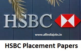 HSBC Placement Papers PDF Download 2017-2018 | Aptitude