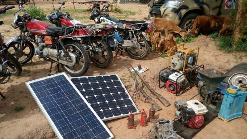 Troops recover Nigerian Army vehicle, bikes, solar panels, weapons from Boko Haram