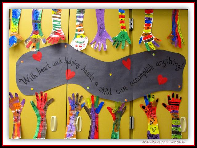Back to school hand art in kindergarten via rainbowswithinreach also rainbowswithinreachspot rh