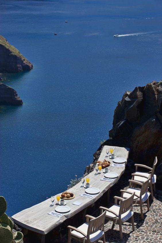 Dinner with a view, Santorini - Ioanna's Notebook
