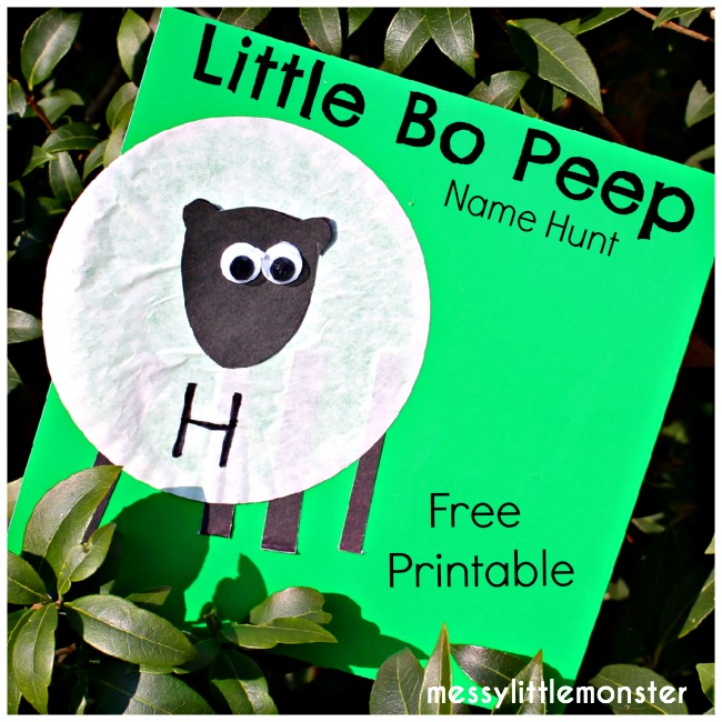Little Bo Peep Activity: Free Printable