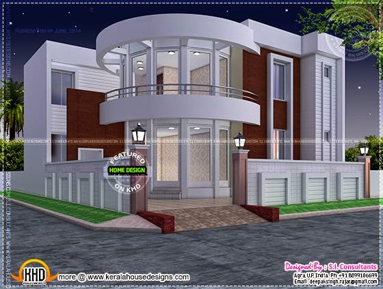 June 2014 kerala home design and floor plans for 5000 square feet in square meters