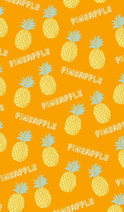 The pineapple pattern-Orange-