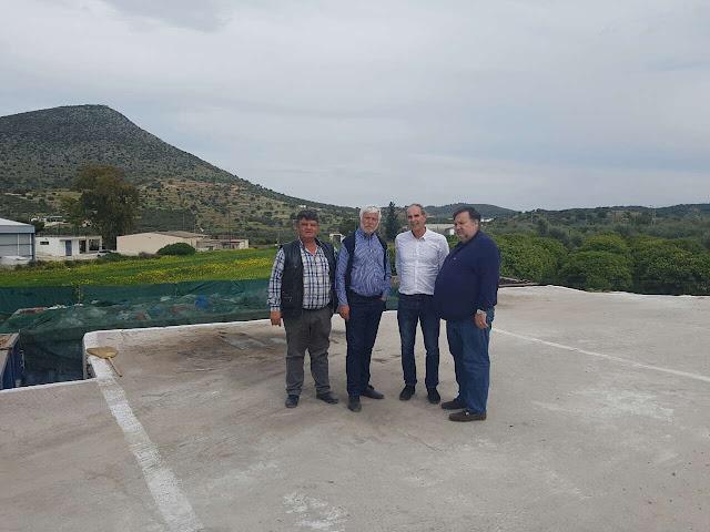 Επίσκεψη Τατούλη - Χειβιδόπουλου στο Σταυρό Διδύμων - Συμφωνία για την οριστική λύση αποκατάστασης του χώρου